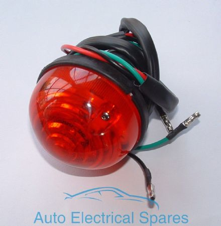 Rear Brake / Tail Lamp / light COMPLETE Red lens replaces Lucas L760
